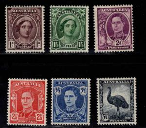 Australia Scott 191-196 MH* set