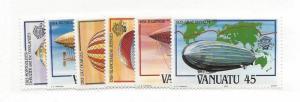 Vanuatu, 354-59, Balloons / Airships, Singles, MNH