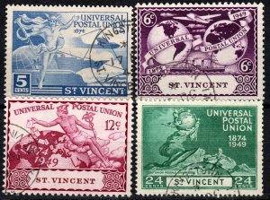 St Vincent #170-73  F-VF Used CV $5.05 (X1382)