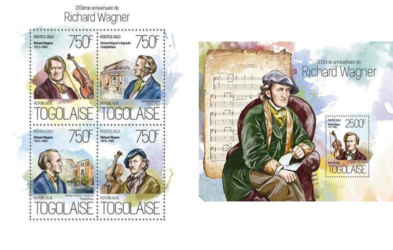 Richard Wagner Classic Music Composers Komponisten Togo MNH stamp set