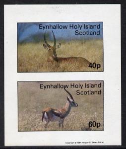 Eynhallow 1981 Deer imperf  set of 2 values (40p & 60...