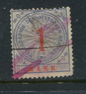Germany Telegraph Hiscock #16 Used 1m