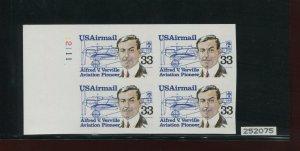 Scott C113a Airmail Imperf ERROR Plate Block of 4 Stamps NH w/ PF Cert (C113 PF)
