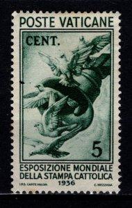 Vatican City 1936 Catholic Press Exhibition, 5c [Unused]