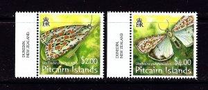 Pitcairn Is 650-51 MNH 2007 Moths