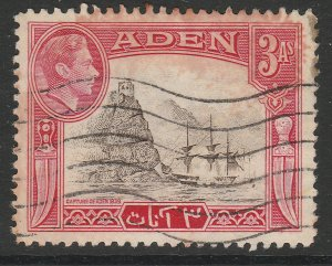ADEN Sailer Transportation Ships KGVI British colonies 3a used A16P1F25