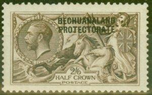 Bechuanaland 1915 2s6d Dp Sepia Brown SG83 Waterlow Fine Mtd Mint