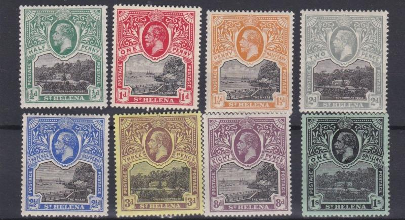 ST HELENA  1912 - 16      S G  72 - 78  VARIOUS VALUES TO 1/-    MH