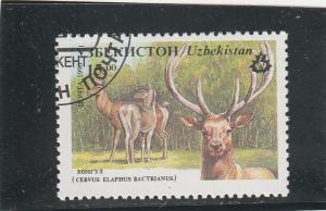 Uzbekistan  Scott#  106  CTO  (1996 Red Deer)