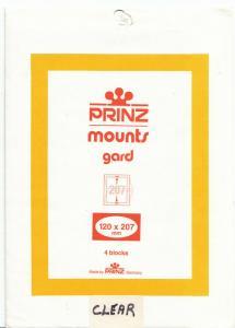 PRINZ 120X207 (4) CLEAR MOUNTS RETAIL PRICE $6.25