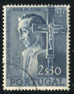PORTUGAL # 801 Fine Used Issue - MANUEL DA NOBREGA AND CRUCIFIX - S6292