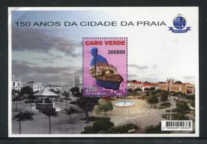 Cape Verde 908, MNH. 2008, 150 Years Praia City s/s. x27817