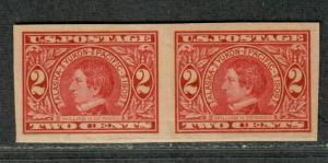 US Sc#371 M/NH/EF, Imperf Pair, Cv. $65