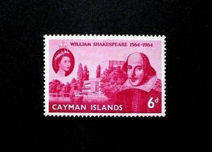 CAYMAN IS - 1964 - QE II - SHAKESPEARE ISSUE - # 171 - MINT - MNH SINGLE!