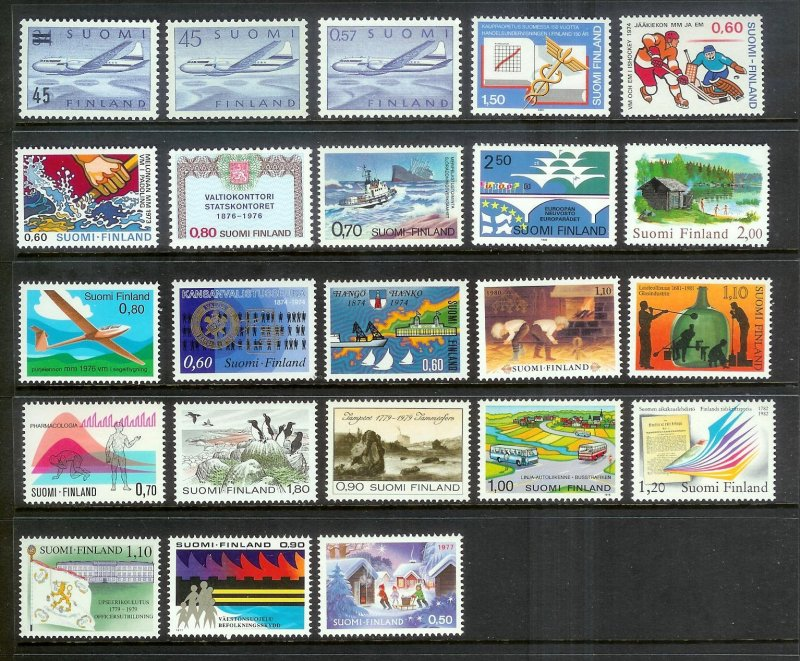FINLAND (158) Different stamps ALL Mint Never Hinged w/a couple VLH Lot of value