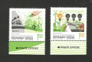 BOSNIA-SERBIA-MNH**  SET-EUROPA CEPT-THINK GREEN 2016.