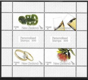 NEW ZEALAND SGMS3238 2010 PERSONALISED STAMPS  MNH