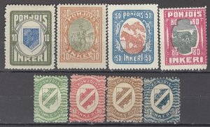 COLLECTION LOT OF #1124 NORTH INGERMANLAND 8 MH STAMPS  1920