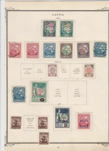 latvia 1920 stamps on page ref r9126