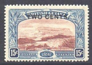 British Guiana Scott 159 - SG224, 1899 2c on 15c MH*