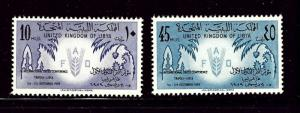 Libya 183 and 185 MNH 1959 issues
