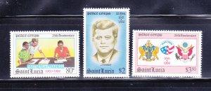 St Lucia 843-845 Set MNH Peace Corps