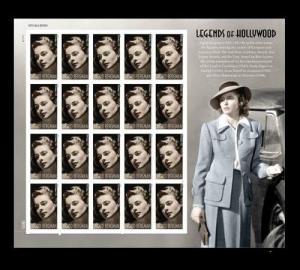 US 5012a Legends of Hollywood Ingrid Bergman imperf NDC sheet MNH 2015
