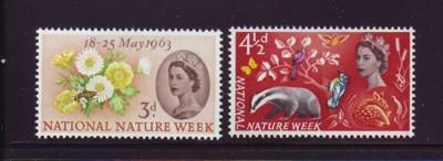 Great Britain Sc393-4 1963 Nature Week stamps NH