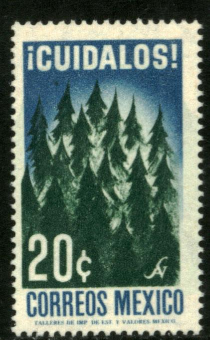 MEXICO 963, 20¢ Tree Day MINT, NEVER HINGED. VF.