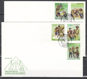 Cuba, Scott cat. 4203-4207. Pioneers Explorers issue. First day covers. ^