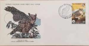 O) 1978 GAMBIA, RESERVE, WWF BIRDS OF PREY AND WILDLIFE, VERREAUX EAGLE OWL, PRE