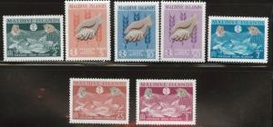 Maldives Scott 117-123 MH* 1963 FAO set
