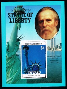 UK STAMP TUVALU 1986 CENTENARY STATU OF LIBERTY MNH S/S STAMP COLLECTION LOT #6