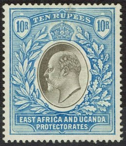 EAST AFRICA AND UGANDA 1904 KEVII 10R WMK MULTI CROWN CA