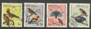 PAPUA  NEW GUINEA  188-191  USED,  BIRDS