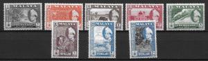 Malaya Trengganu 75-82 Sultan part set MLH