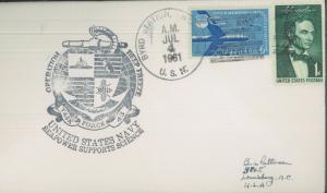 1961 Antarctica US Navy Operation Deep Freeze BYRD Station Postal Cover