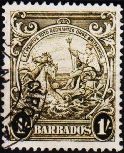 Barbados. 1938 1s  S.G.255a Fine Used