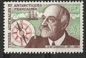 French Southern & Antarctic # 21  Charcot, explorer   (1)  Unused VLH