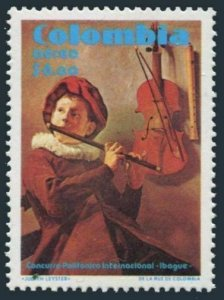 Colombia C686 pair,MNH.Mi 1413. 2nd International Music Competition,1980.Art.