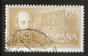 SPAIN Scott 837 Used 1955 St Ignatious of Loyola