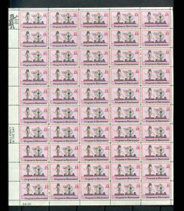 US #C86 11¢ Progress in Electronics Airmail Sheet of 50 VF NH MNH (A)