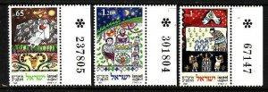 Israel-Sc#1089-91 -unused NH set-Jewish Festivals-1991-