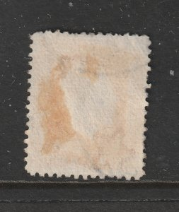 New Zealand a used 2d yellow recess perf 14