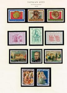 ITALY STAMP VATICAN MINT STAMP COLLECTION LOT #T6