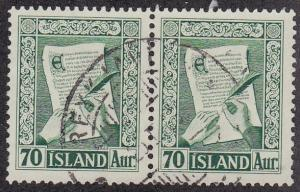 Iceland # 279, Law Manuscript, Used Pair