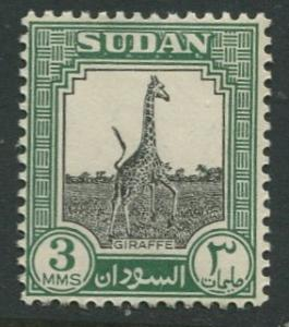 Sudan - Scott 100 - Pictorial Definitives -1951 - MLH - Single 3m Stamp