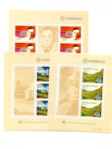 Portugal/Azores/Madeira  1983   Europa sheets VF NH  - Lakeshore Philatelics