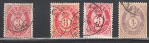 Norway #18, 18a, 19 USED