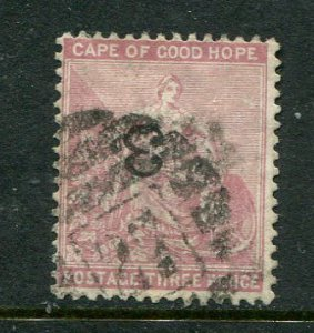 Cape Of Good Hope #32a Inverted Overprint Used (LOT#L)
